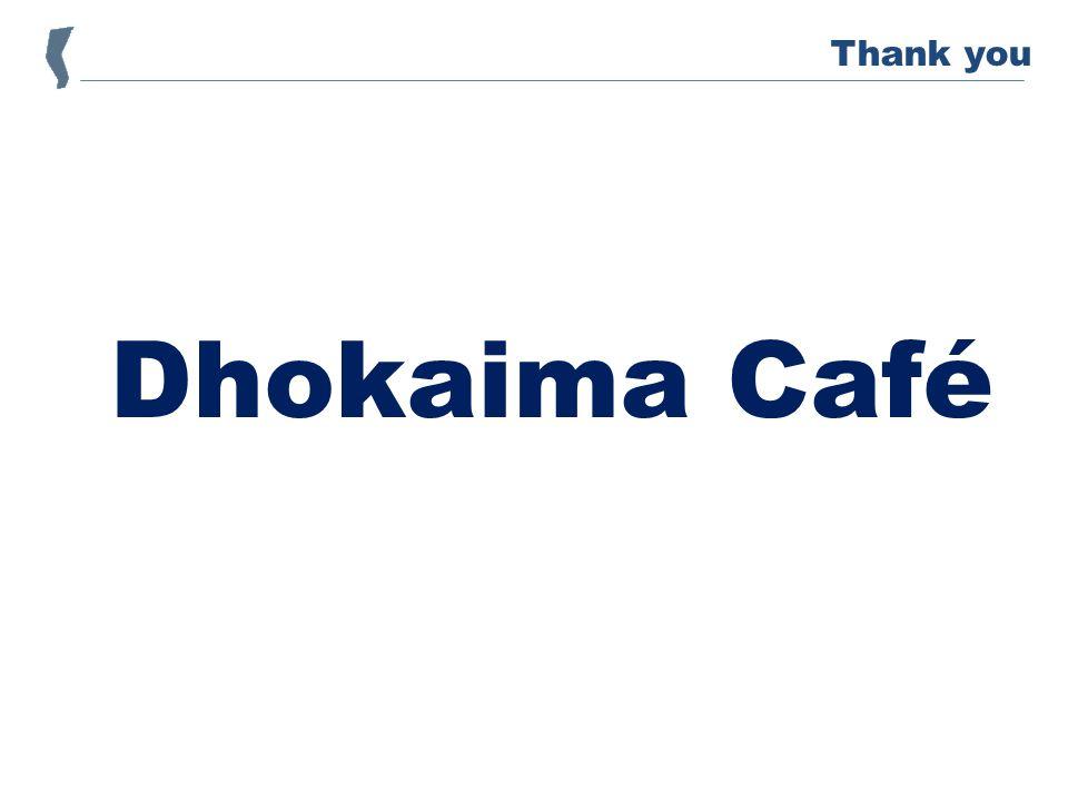 Dhokaima Café Thank you
