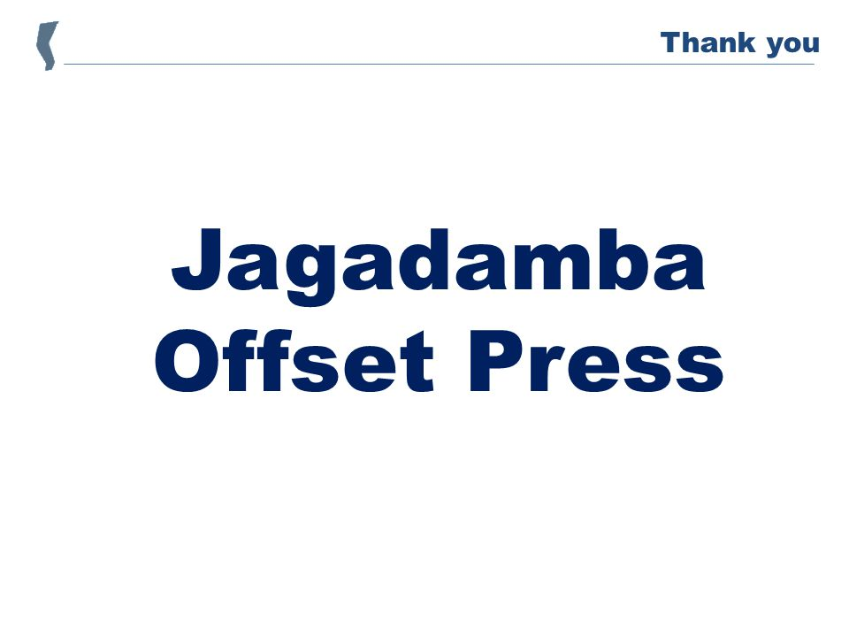 Jagadamba Offset Press Thank you