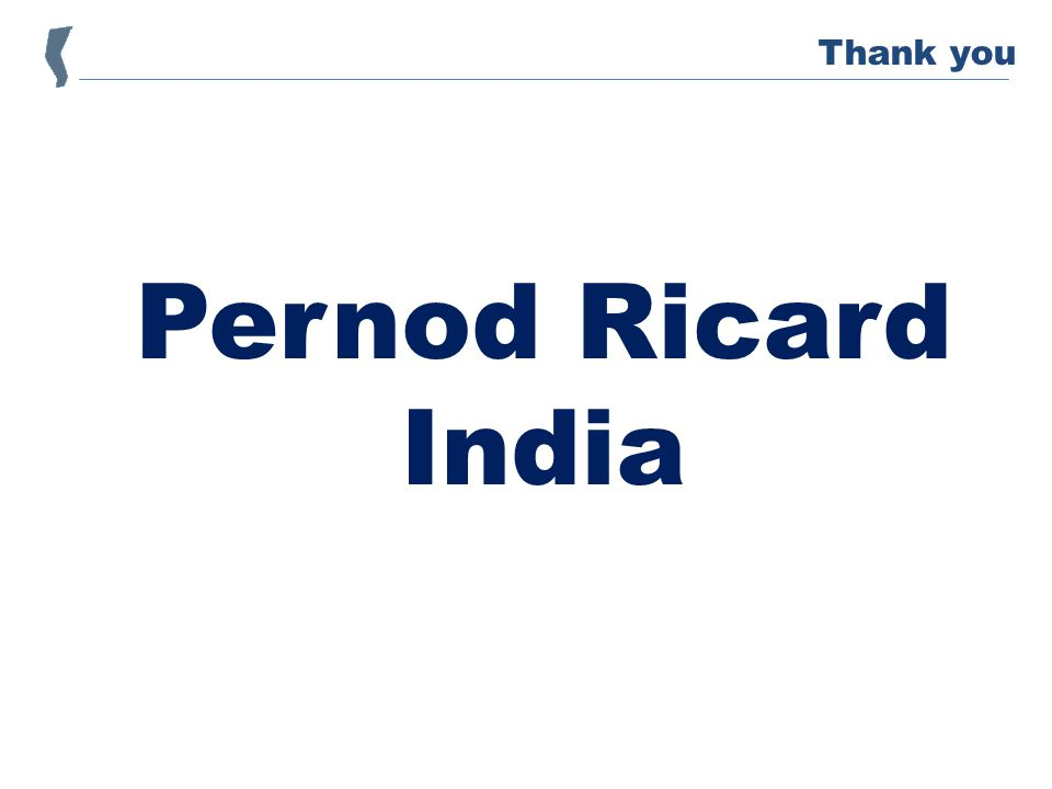 Pernod Ricard India Thank you
