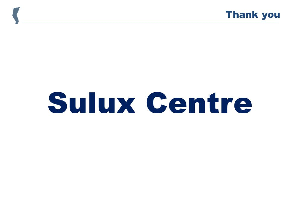 Sulux Centre Thank you