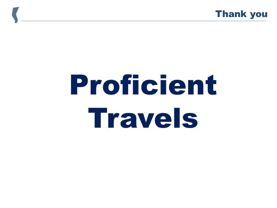 Proficient Travels Thank you