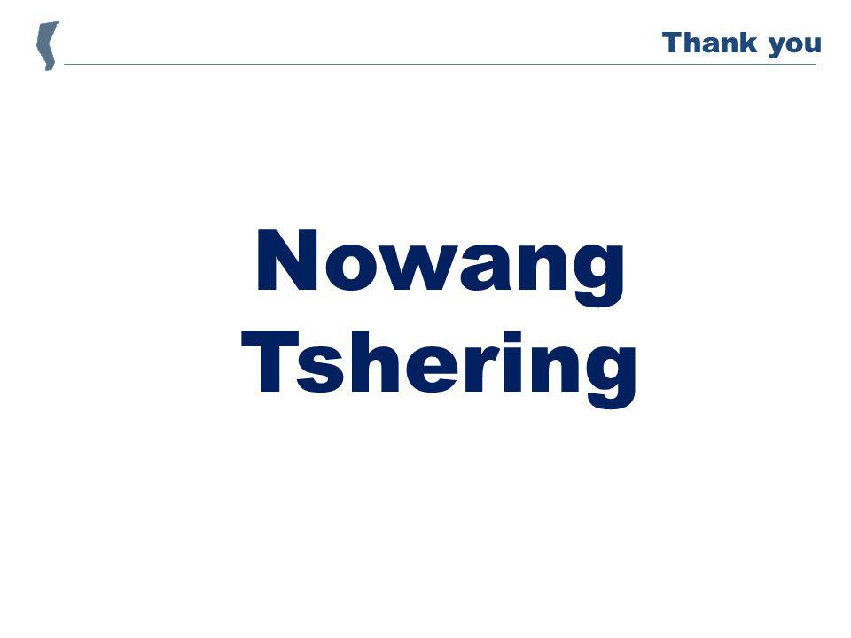 Nowang Tshering Thank you
