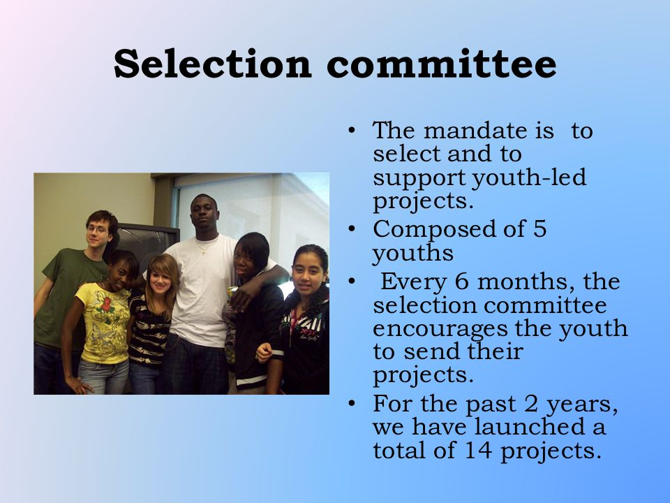 1 st year generation YOUTH-LED project