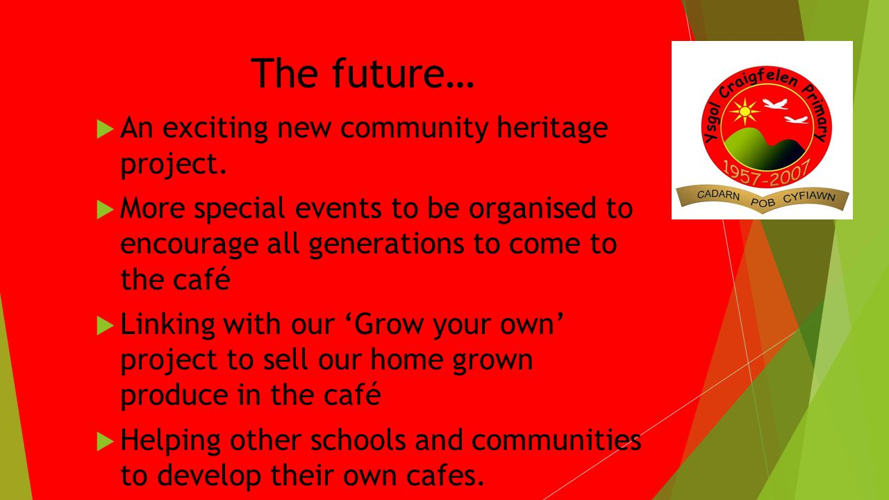The future… An exciting new community heritage project.