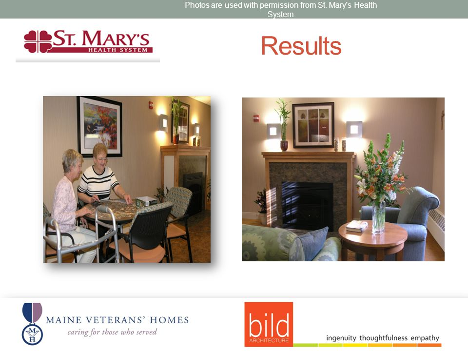 Results Photos are used with permission from St. Mary s Health System