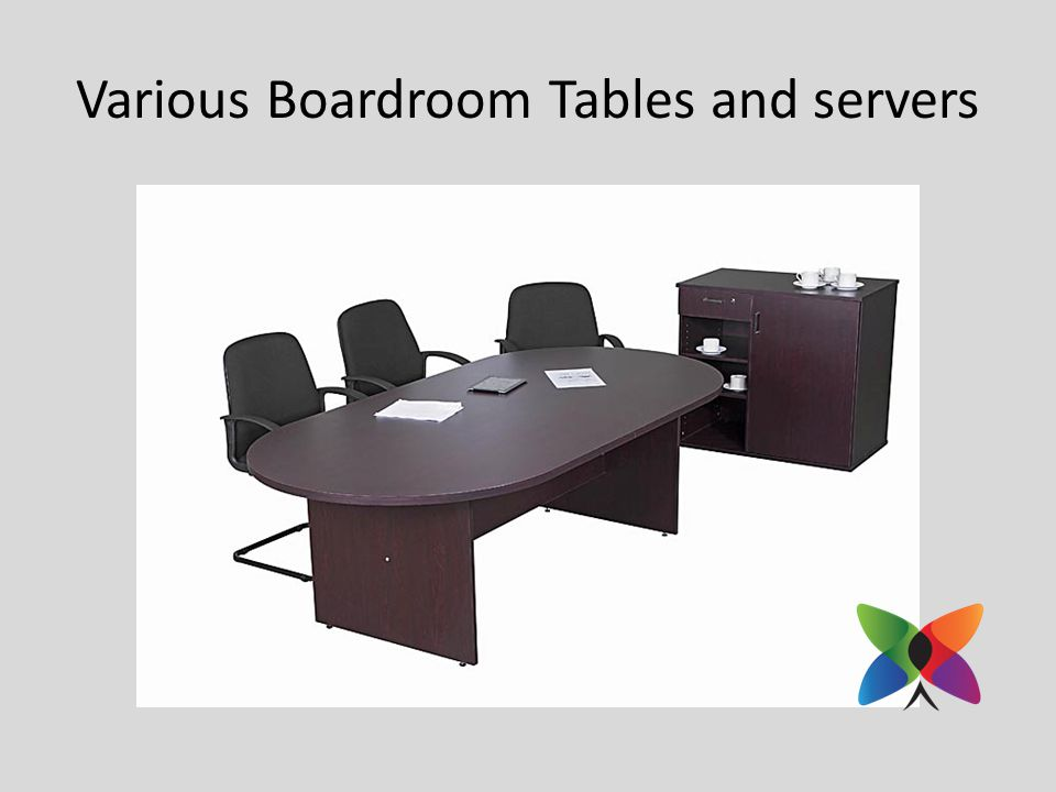 Various Boardroom Tables and servers