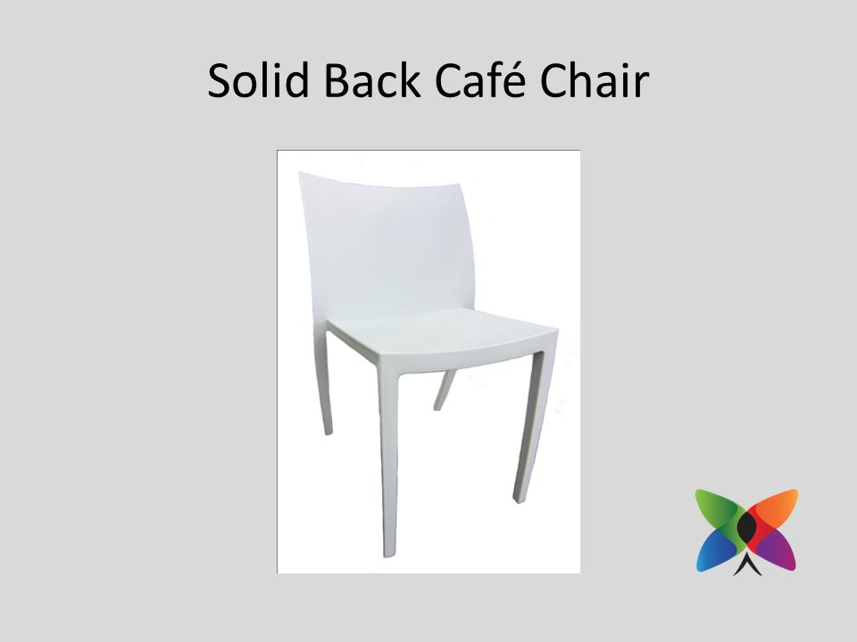 Solid Back Café Chair