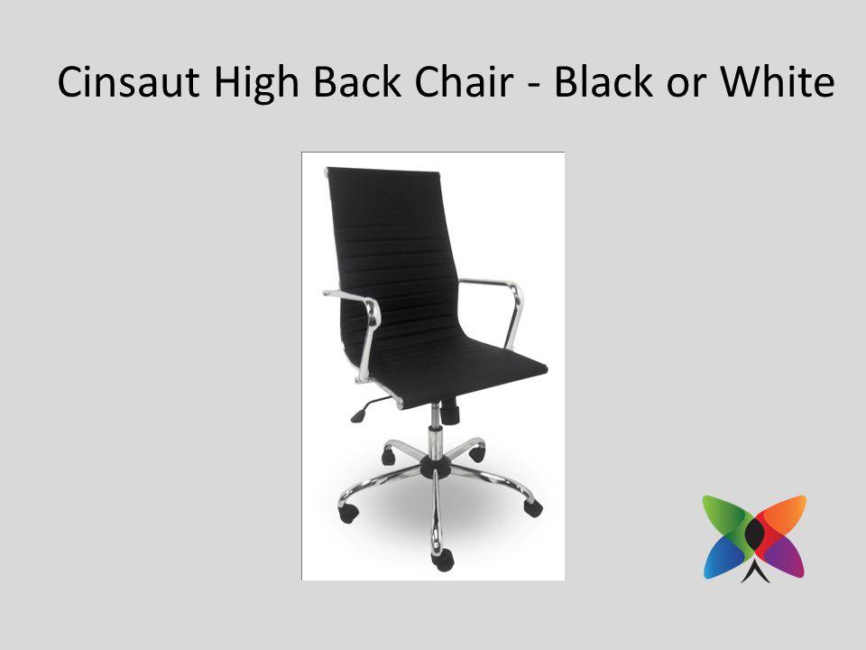 Cinsaut High Back Chair - Black or White