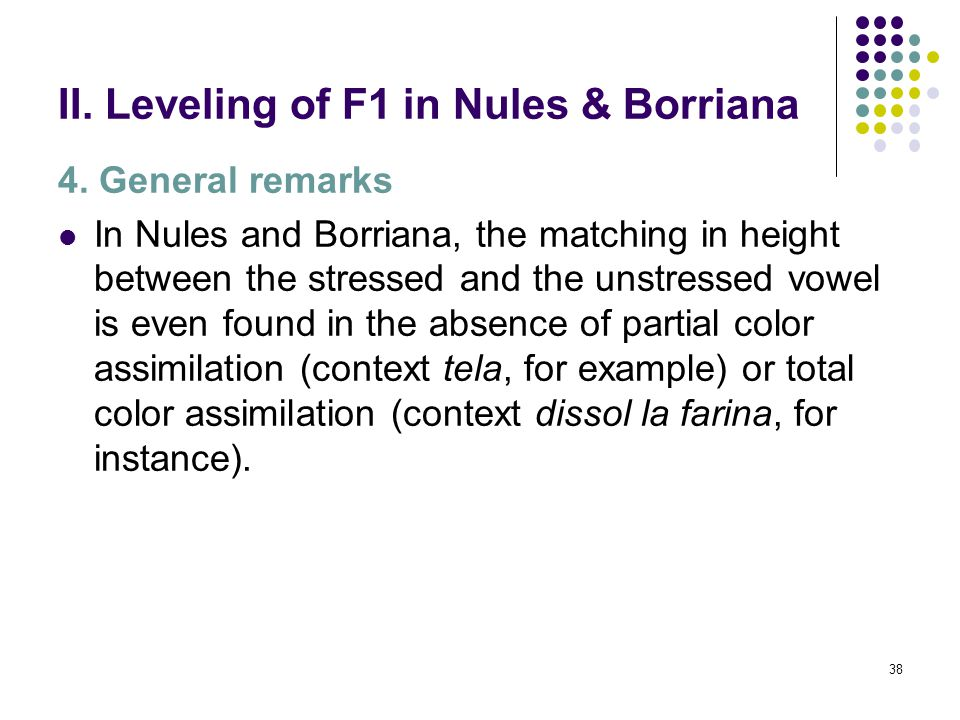 37 II. Leveling of F1 in Nules & Borriana 3.