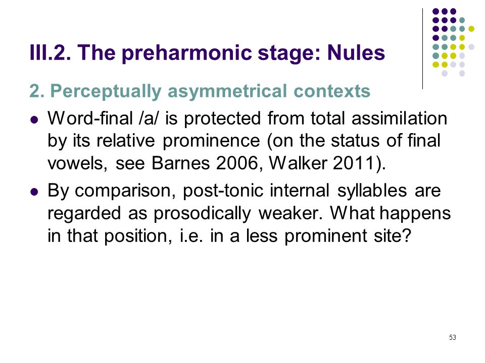 52 III.2. The preharmonic stage: Nules [F (4, 75) = 12,564, p = 0,000]