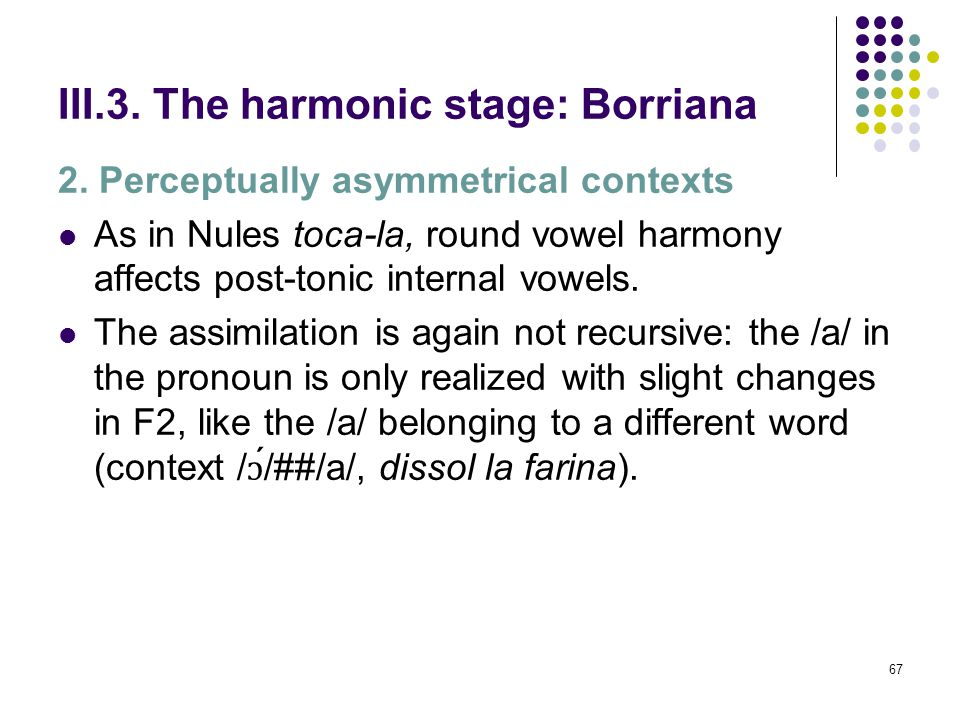 66 III.3. The harmonic stage: Borriana [F (4, 75) = 37,067, p = 0,000]