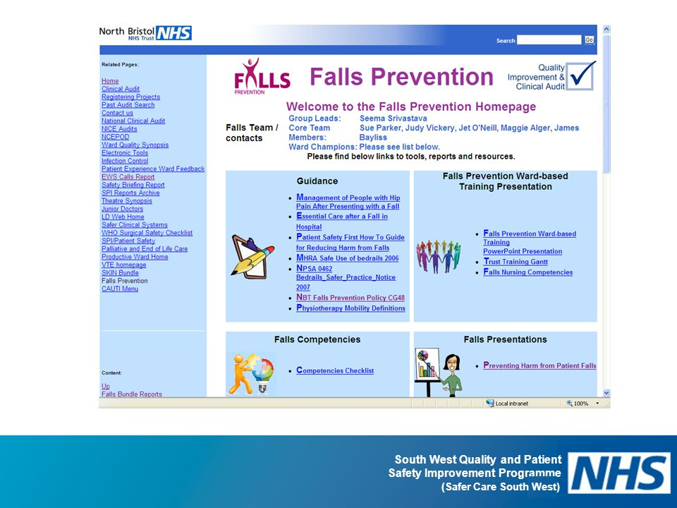 South West Quality and Patient Safety Improvement Programme (Safer Care South West)