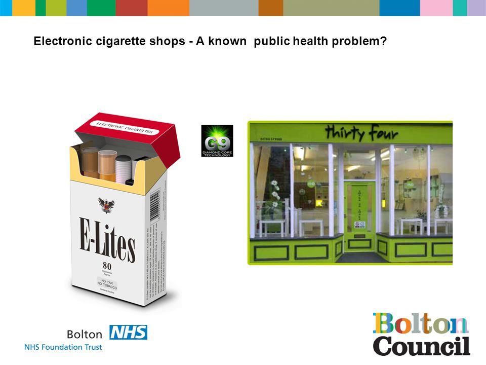 Electronic cigarette shops - A known public health problem