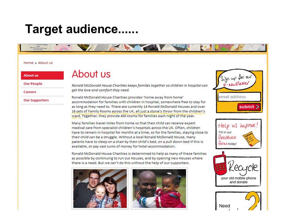 Target audience......