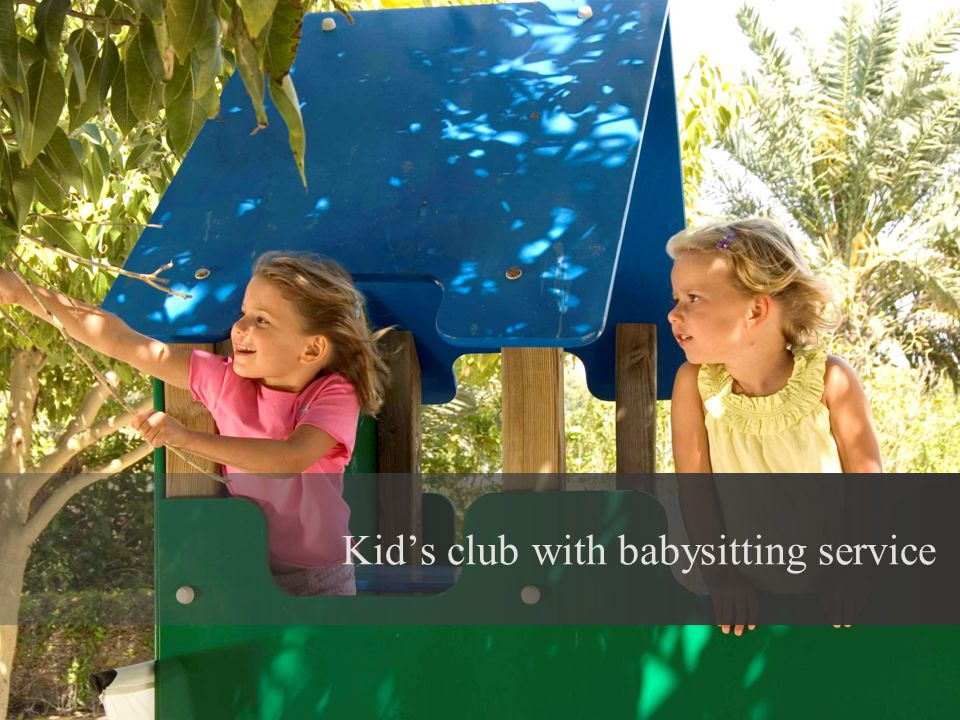 Kids club with babysitting service