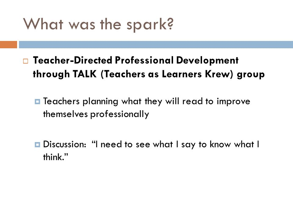 The spark igniting an idea RTI in Literacy: Responsive and Comprehensive, edited by Peter H.