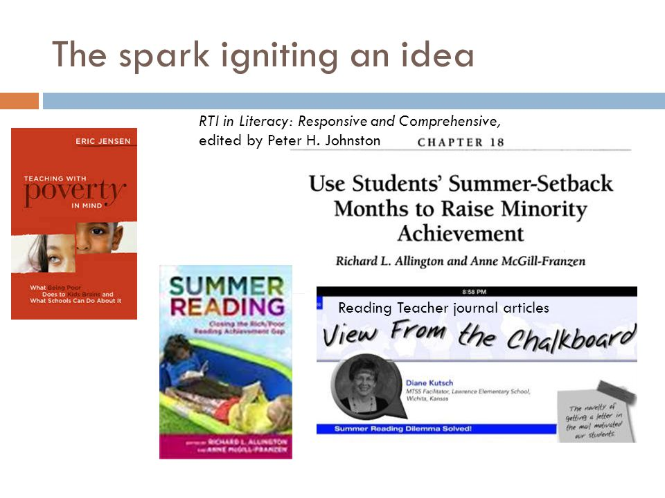 Preliminary Summer Reading Initiatives Data, rising first graders