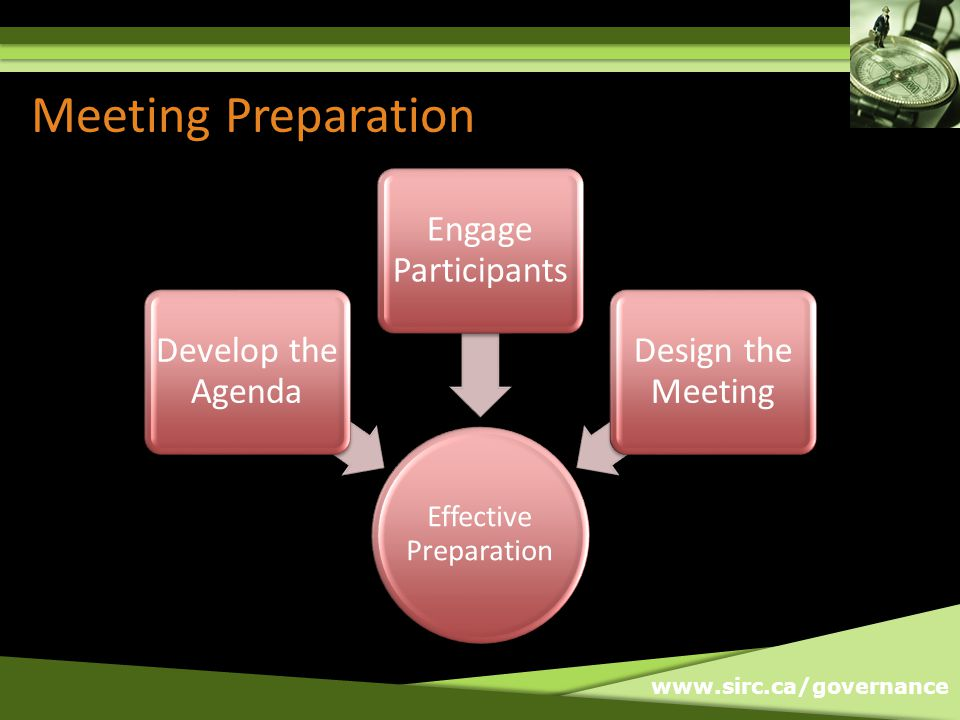 www.sirc.ca/governance Be Prepared Effective Calls Be Prepared Engage Participants