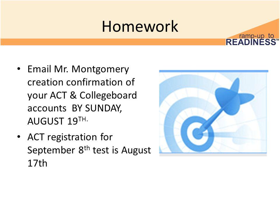 Homework Email Mr.