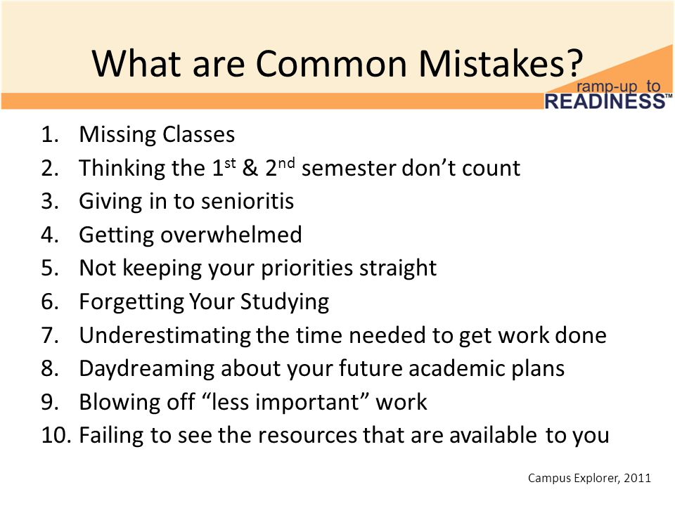 What are Common Mistakes.