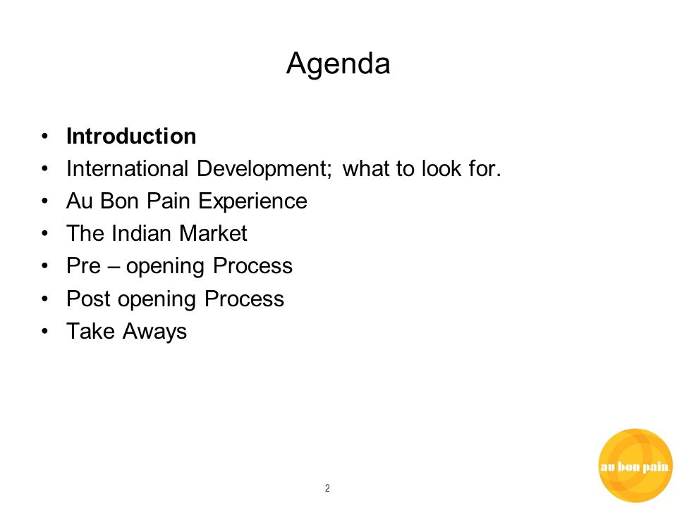 2 Agenda Introduction International Development; what to look for.