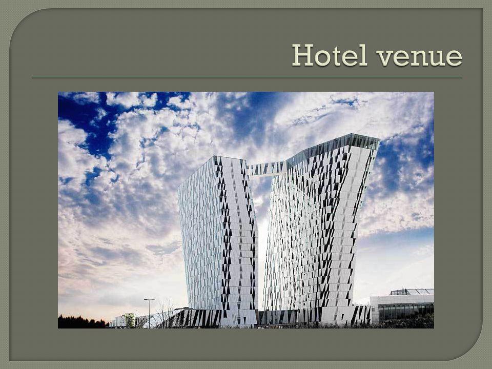 812 Rooms – Biggest in Scandinavia.23 Floors, two towers.