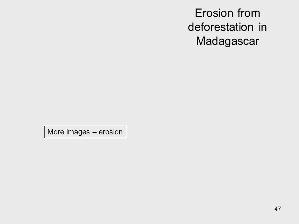 47 More images – erosion Erosion from deforestation in Madagascar