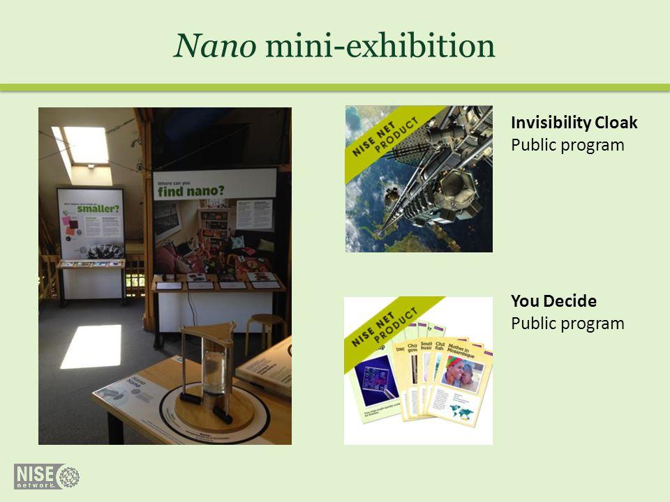 Nano mini-exhibition Invisibility Cloak Public program You Decide Public program