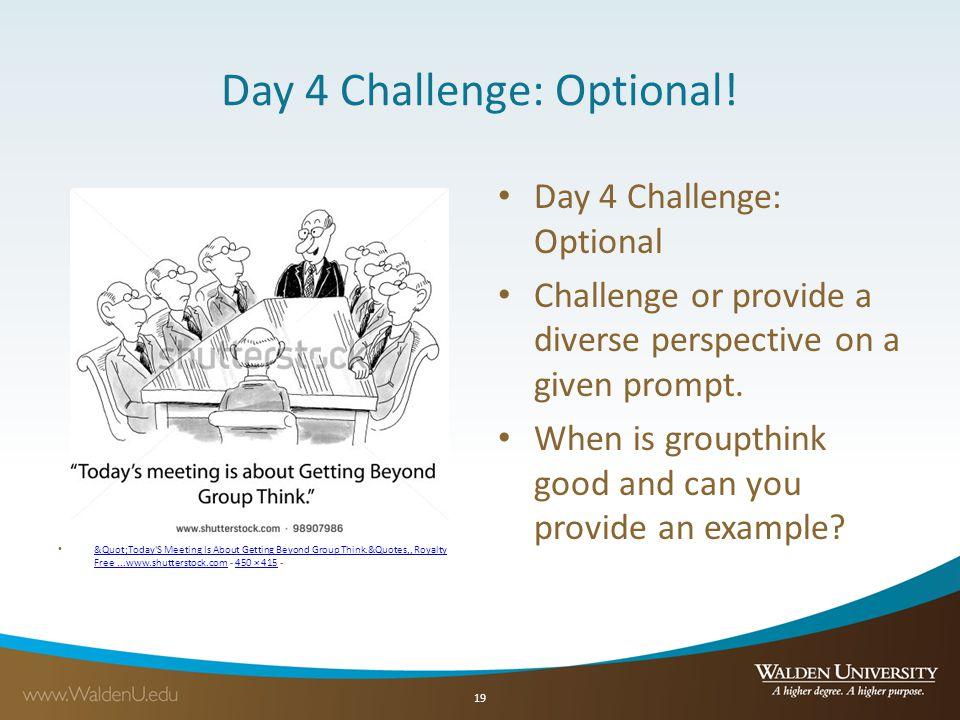Day 4 Challenge: Optional.