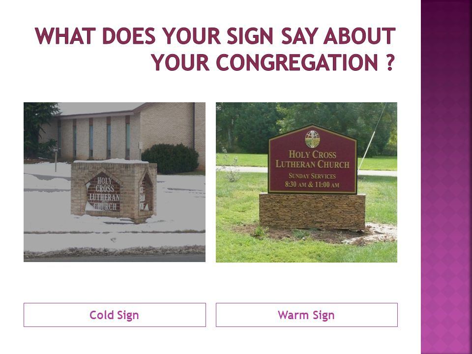 Cold SignWarm Sign