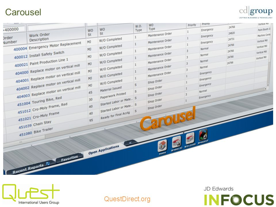 QuestDirect.org Carousel