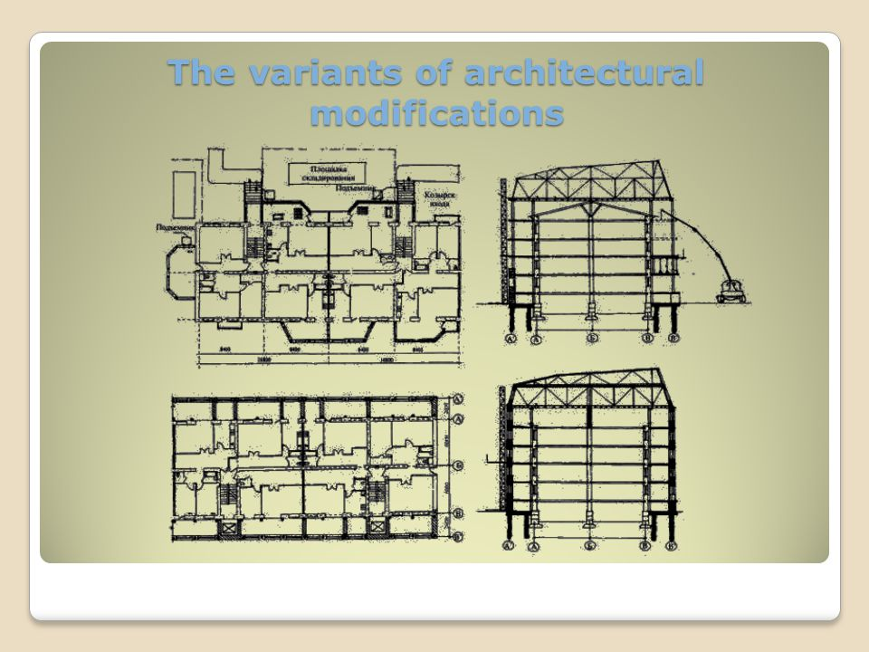 The project of restoration of the office building Original design for a building