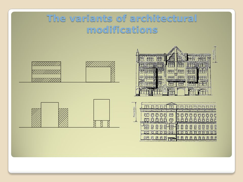 The project of restoration of the office building Present view