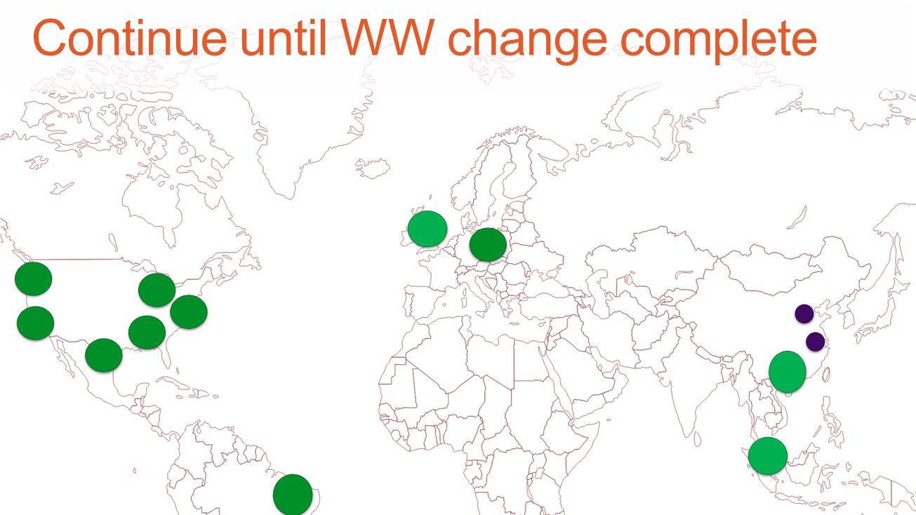 Continue until WW change complete