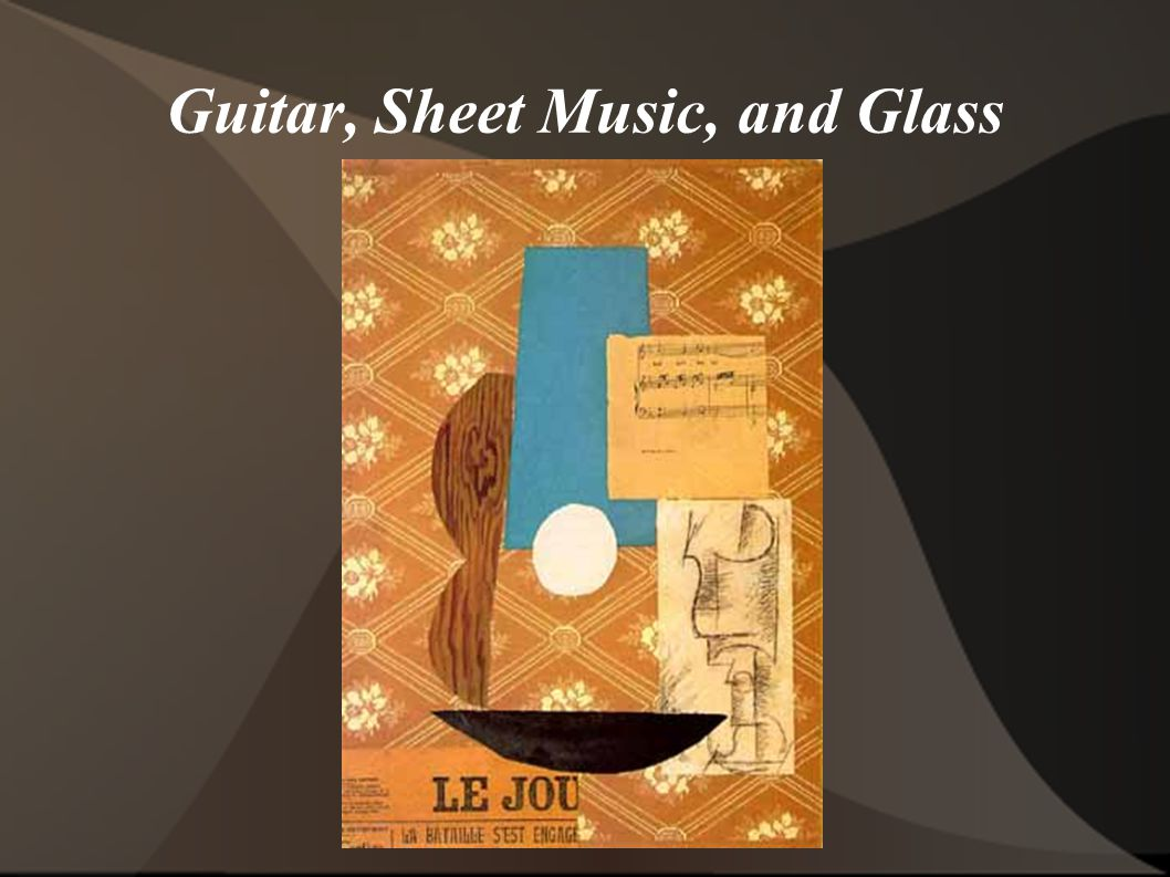 Guitar, Sheet Music, and Glass