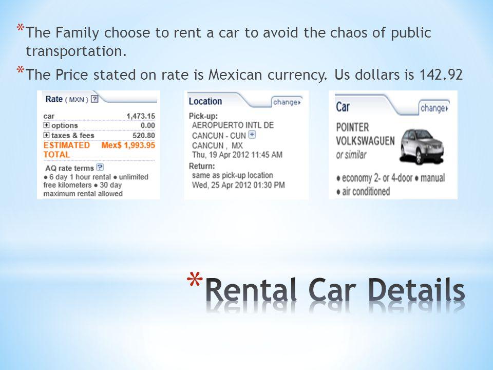 * EXPENSES: * Flights: 1609.60 * Rental Car: 142.92 * Hotel: 981.