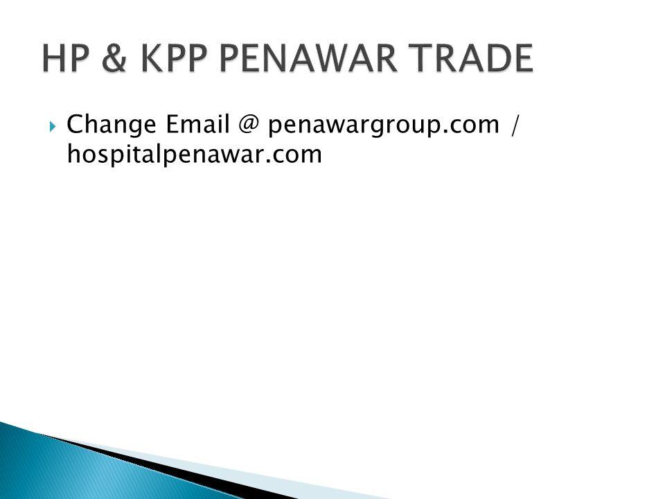 Change Email @ penawargroup.com / hospitalpenawar.com