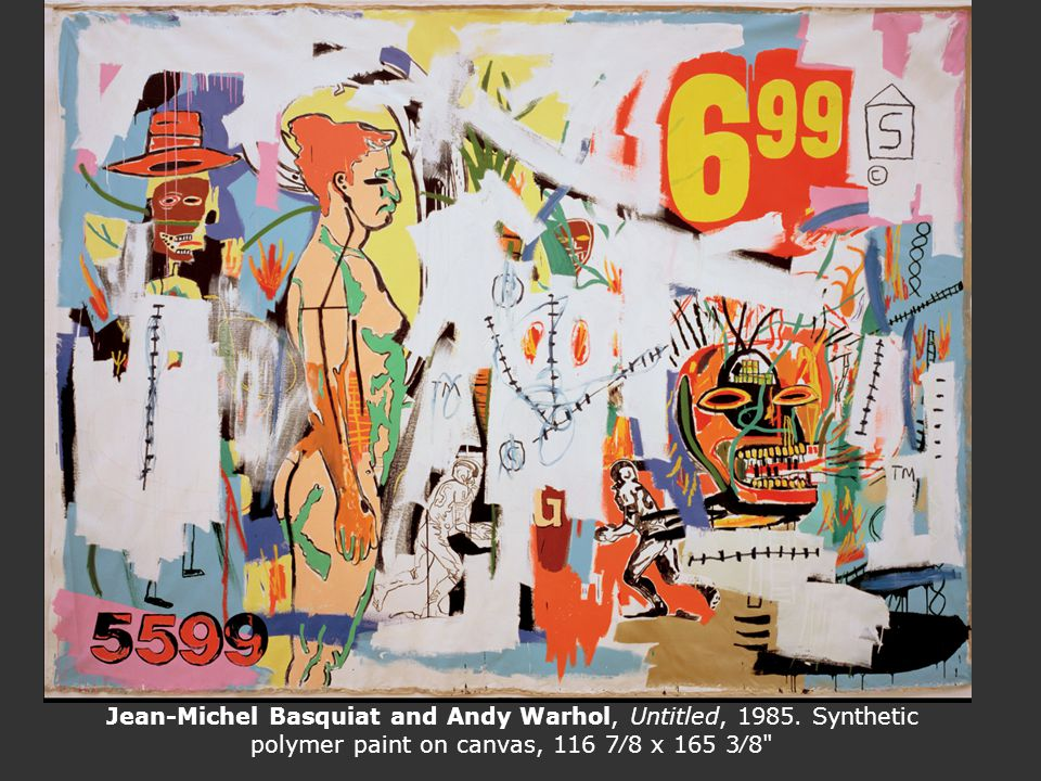 Jean-Michel Basquiat and Andy Warhol, Untitled, 1985. Synthetic polymer paint on canvas, 116 78 x 165 38