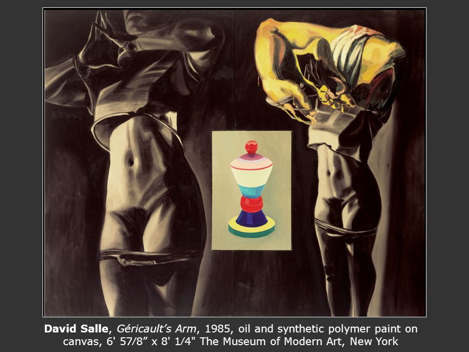 David Salle, Géricaults Arm, 1985, oil and synthetic polymer paint on canvas, 6' 578 x 8' 14