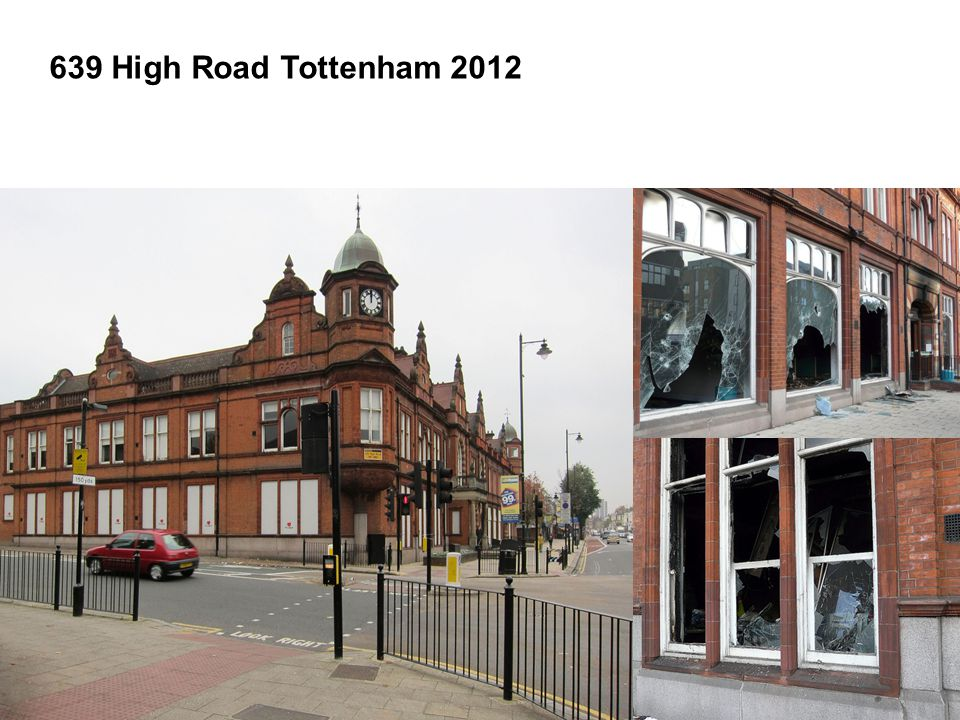 639 High Road Tottenham Enterprise Centre To establish a new Enterprise and Employment Hub in the heart of Tottenham, run by local people for local people.