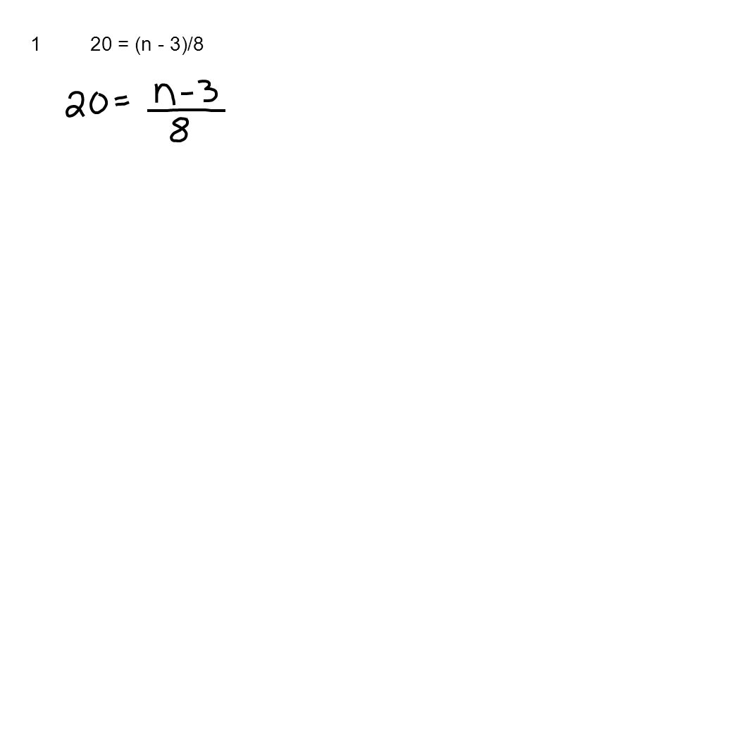 120 = (n - 3)/8