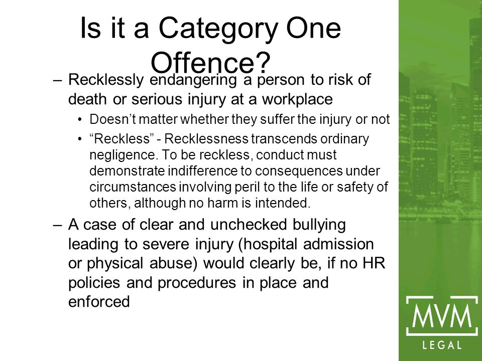 Is it a Category One Offence.