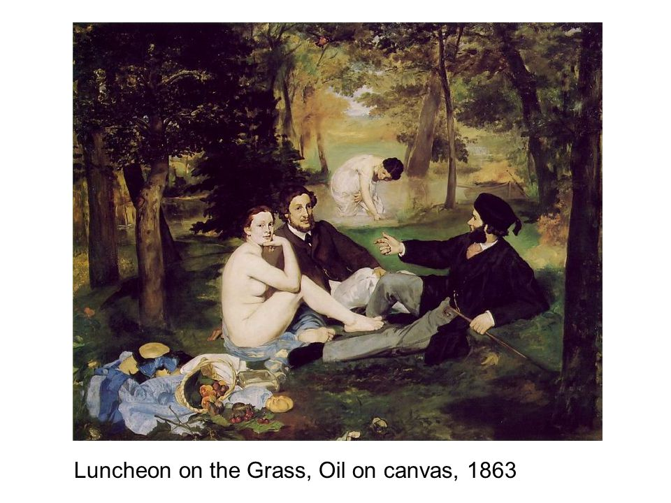 Luncheon on the Grass, Oil on canvas, 1863