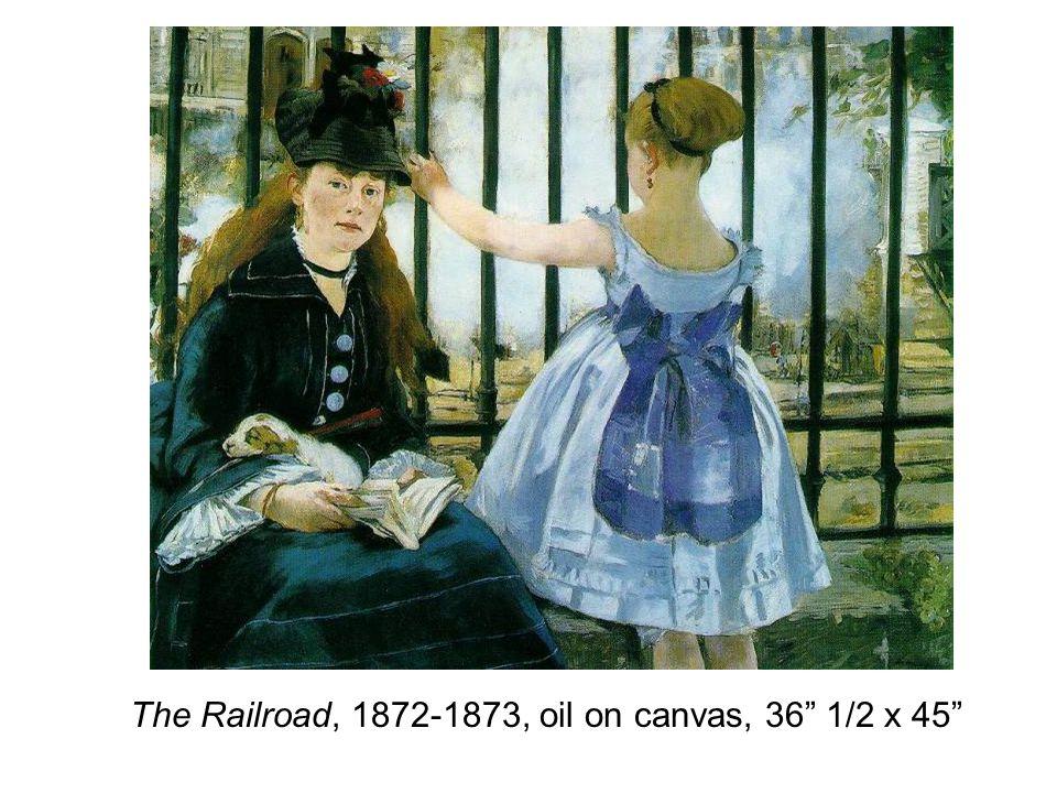 The Railroad, 1872-1873, oil on canvas, 36 1/2 x 45