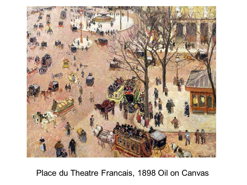 Place du Theatre Francais, 1898 Oil on Canvas