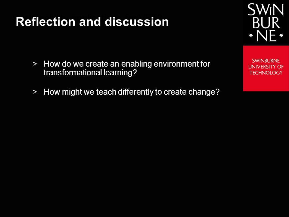 Swinburne Teaching Effectively to Create the Change we Need