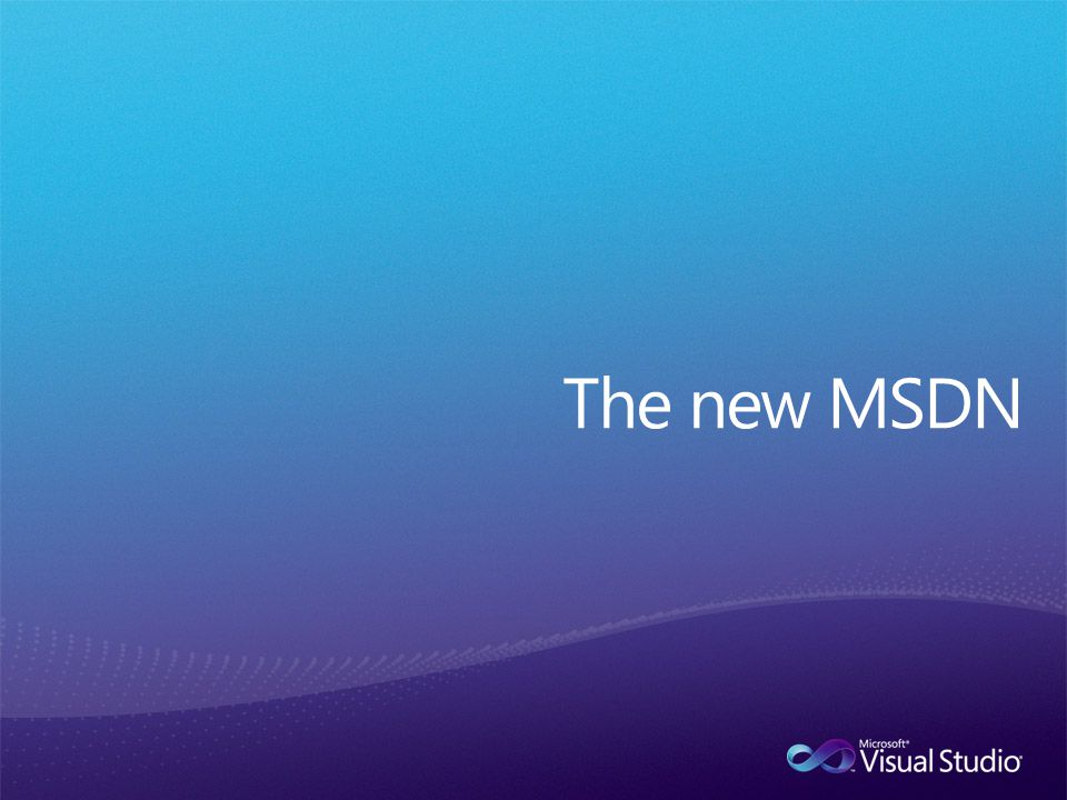 The new MSDN