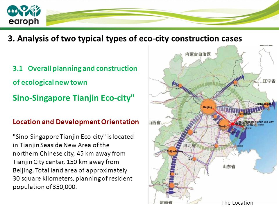 3. Analysis of two typical types of eco-city construction cases 3.1 Overall planning and construction of ecological new town Sino-Singapore Tianjin Ec