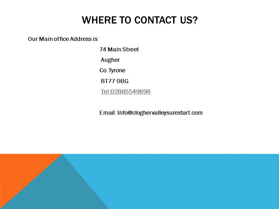 WHERE TO CONTACT US.