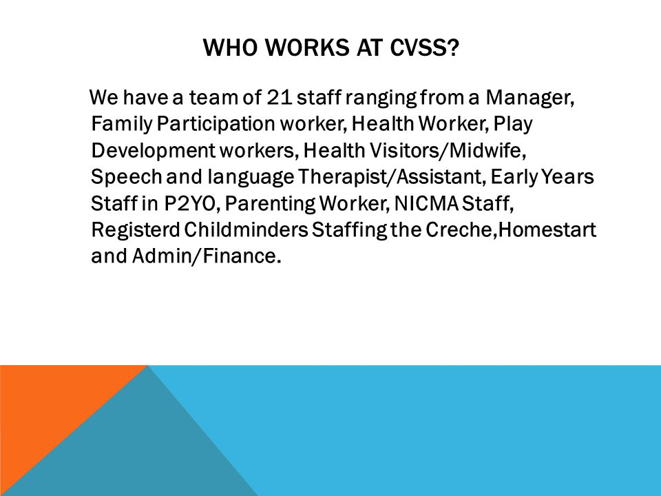 WHO WORKS AT CVSS.